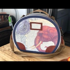 Anthropologie display travel suitcase /hat box